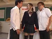 Kanae Renon is a super horny schoolgirl