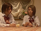 Schoolgirls are giving amazing blowjobs