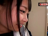 Eri Natsume shows her expertise in blowing meaty poles