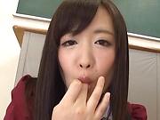 Sakura Miyuki enjoys a freaky solo girl session