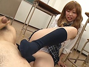 Aoi Rena ,pleasures a throbbing shaft