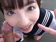 Pov scene of Ichihara Yume getting her face filled with cum