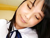 Lovely schoolgirl gives amateur oral to fat dick picture 14