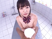 Tsubomi profess her love for a huge stiff dick