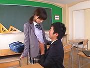 Japanese schoolgirl fucking her teacher