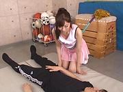 Katou Honoka makes a lad explode with a cumshot