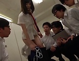 Sleazy teen Suzumura Airi enjoys a steamy foursome picture 15