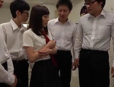Sleazy teen Suzumura Airi enjoys a steamy foursome picture 2