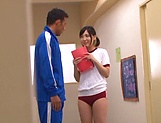 Horny school girl Umi Hirose gets drilled well picture 1