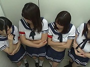 Tokyo schoolgirls are having group sex