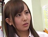Hot Japanese schoolgirls in a gang bang picture 13