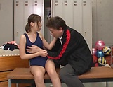 Hot schoolgirl Mogami Kasumi enjoys as she is teased picture 11