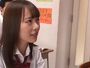 Igarashi Seiran is sucking a glass dildo