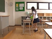 Japanese schoolgirl is having fantasies