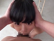 Petite AV girl Miyamura Nanako eats lots of cum