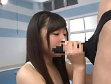 Small tits hot Asian babe passionately ride a hard pole picture 15