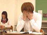 Hot Tokyo princess enjoys teasing her horny classmate