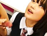 Miyazaki Aya has her shaved pussy ravaged