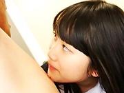 Miyazaki Aya has her fanny stretched in a cute rear fuck