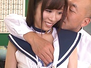 Katou Honoka handles a palpitating dick