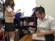 Astonishingly sexy hottie Ootori Kaname blows a hard cock