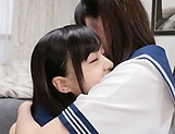 Lesbian intercourse between Japanese schoolgirls,at home picture 12