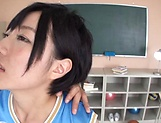 Schoolgirl Aihara Tsubasa enjoys a big dick in her cherry picture 13