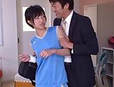 Schoolgirl Aihara Tsubasa enjoys a big dick in her cherry