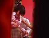 Naughty Umi Hirose in school uniform gets cream pie