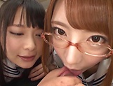 Alluring Tokyo models are into raunchy threesome