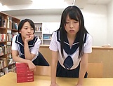 Schoolgirls sharing the cock in exclusive POV home play