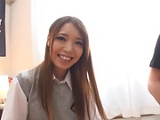Pretty Tokyo schoolgirl enjoys sexual experience with a crazy guy