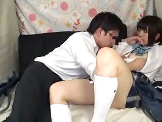 Sexy schoolgirl shows her kinky side