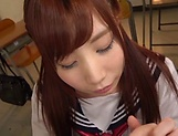 Pov blowjob scene featuring hot Hagesawa Rui