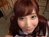 Pov blowjob scene featuring hot Hagesawa Rui picture 12