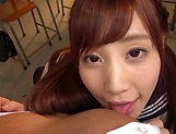 Pov blowjob scene featuring hot Hagesawa Rui picture 14