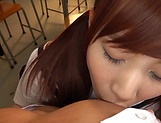 Pov blowjob scene featuring hot Hagesawa Rui picture 15