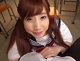 Pov blowjob scene featuring hot Hagesawa Rui