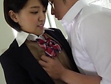 Alluring spicy cutie Hinata Mio gets her nice ass caressed