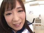 Young Japanese teen leaves man to stick cock in her