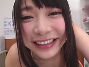 Japanese schoolgirl had POV sex session