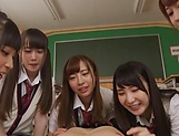 Japanese schoolgirl is having group sex picture 14