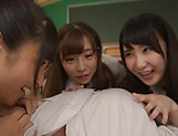 Japanese schoolgirl is having group sex picture 8