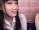 Sultry schoolgirl invites a pink dildo lustfully