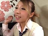 Sassy schoolgirl excels in her cok sucking