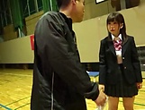 Petite Japanese schoolgirl sucks dick