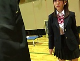 Petite Japanese schoolgirl sucks dick picture 11