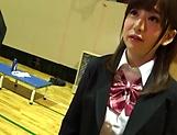 Petite Japanese schoolgirl sucks dick picture 12