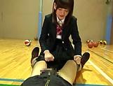 Petite Japanese schoolgirl sucks dick picture 14