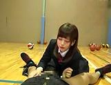 Petite Japanese schoolgirl sucks dick picture 15